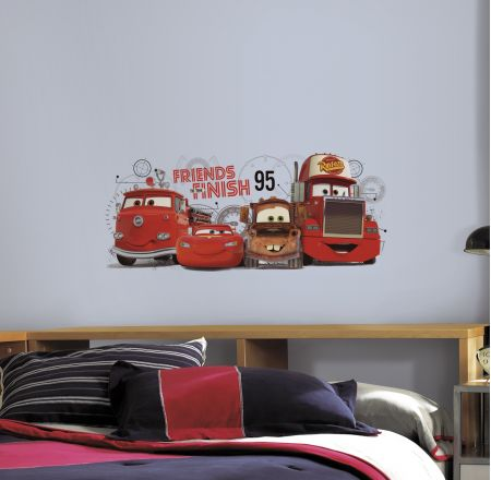 Cars 2 - Friends to the Finish Giant Wall Stickers