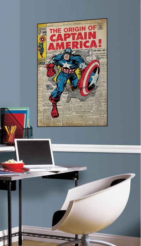 Captain America Comic Cover Giant Sticker