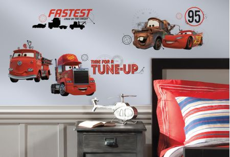 Cars - Friends to the Finish Wall Stickers