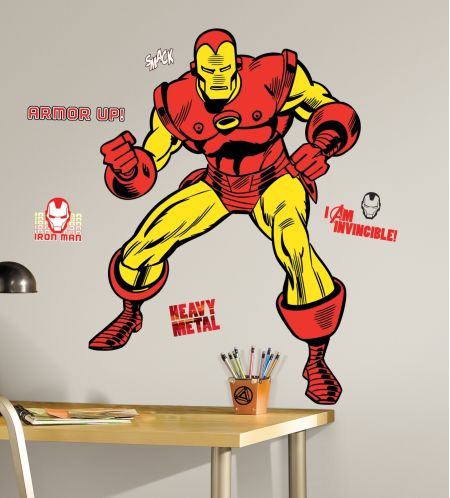 Marvel Classic Iron Man Giant Wall Stickers