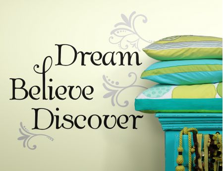 Dream Believe Discover Wall Stickers
