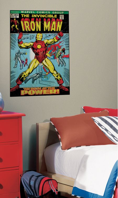 Iron Man Comic Cover Giant Sticker