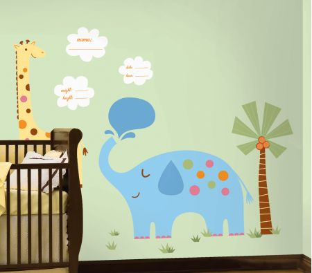 Jungle Animal New Baby MegaPack Wall Stickers