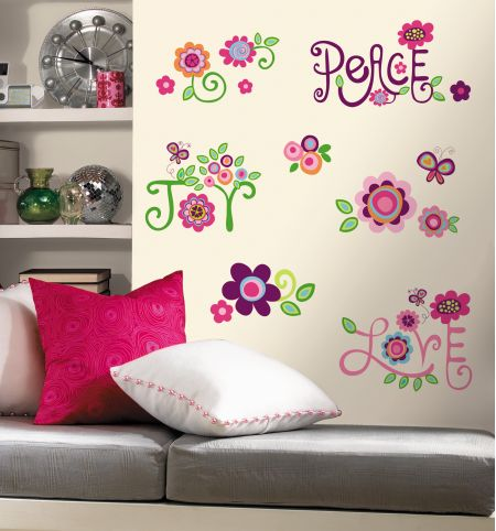 Love Joy Peace Wall Stickers