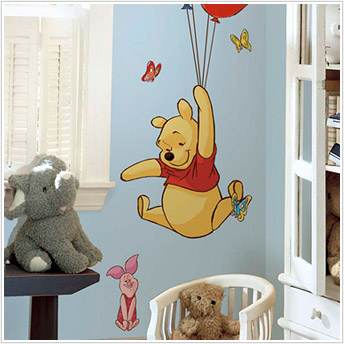 Pooh & Piglet Giant Wall Mural