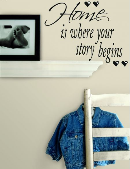 Home is Where Your Story Begins Quotable Stickers