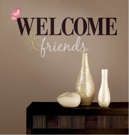 Welcome Friends Wall Stickers