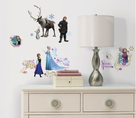 Frozen Wall Stickers with Glitter